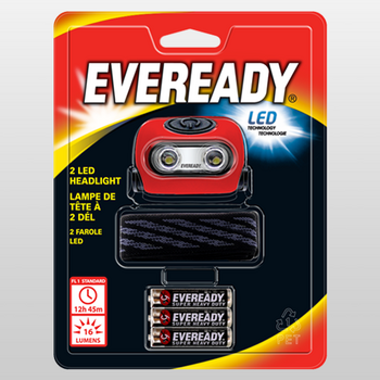EVEREADY® Value 2LED Headlight #HL2LEDWBS